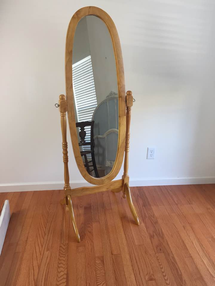 Before: Modern day cheval mirror