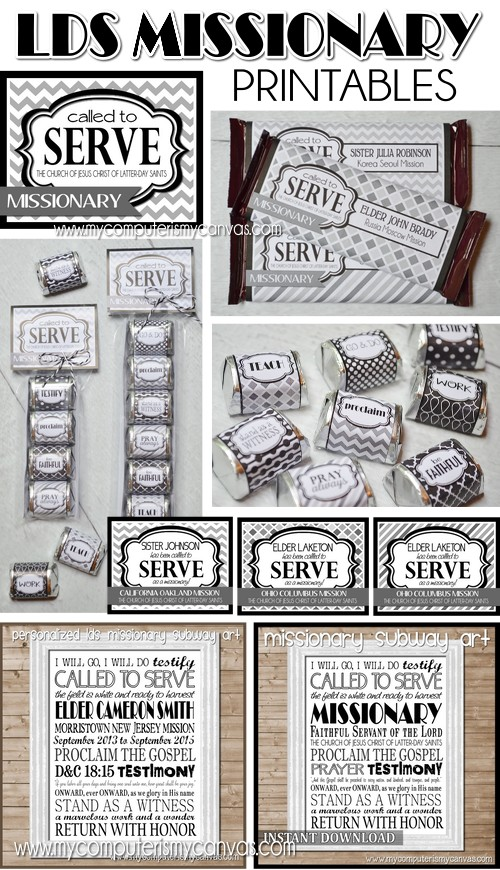 My Computer is My Canvas: {NEW!} LDS MISSIONARY Printables!