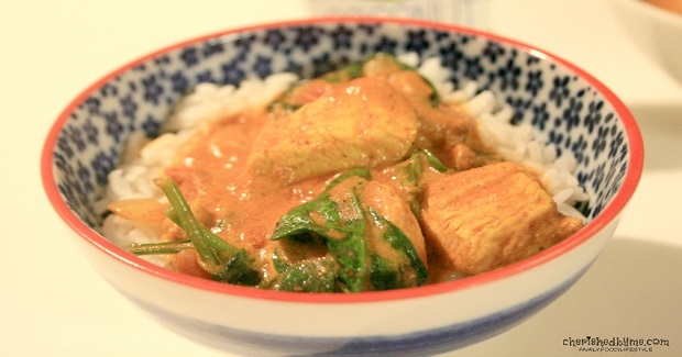 Chicken, Butternut Squash And Spinach Curry Recipe