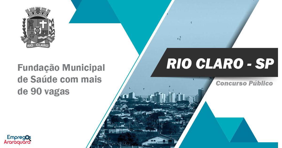 Concurso público Rio Claro- SP com mais de 90 vagas