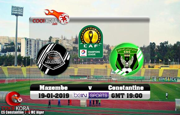 مشاهدة مباراة شباب قسنطينة ومازيمبي اليوم 19-1-2019 دوري أبطال أفريقيا
