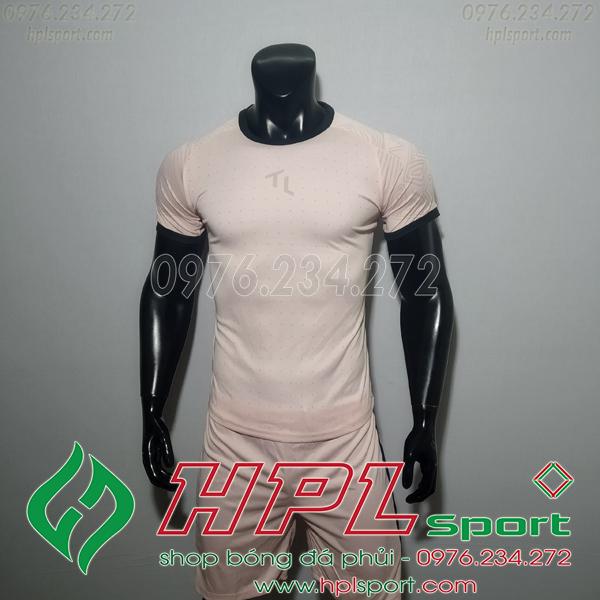 Áo bóng đá không logo TL HML Ya màu hồng