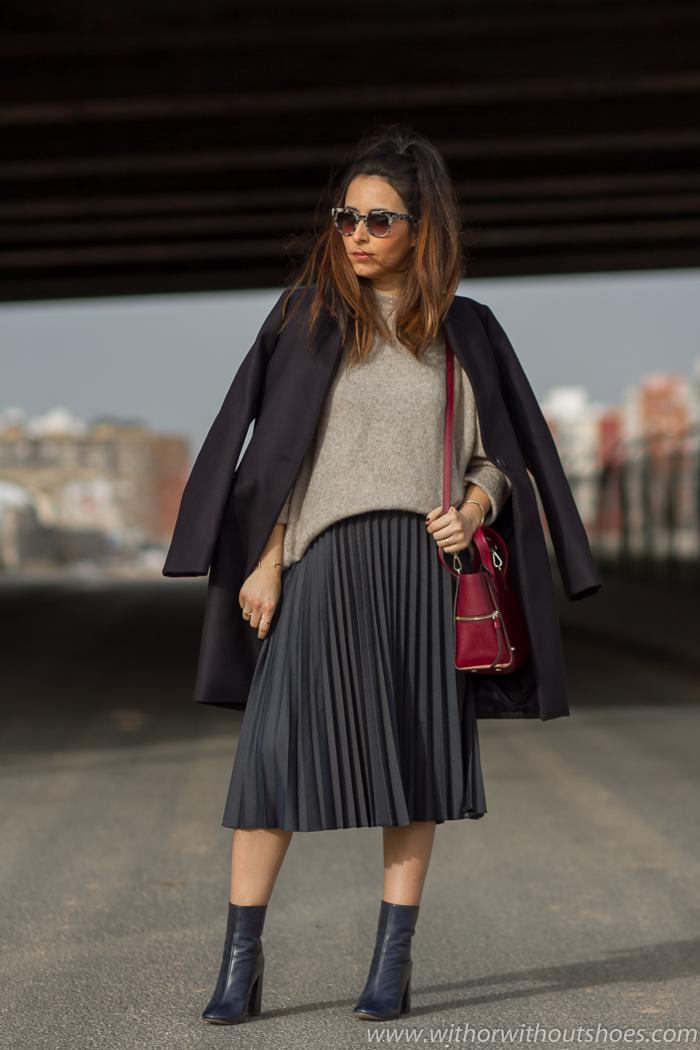 como viste una Blogger embarazada con ropa de Zara