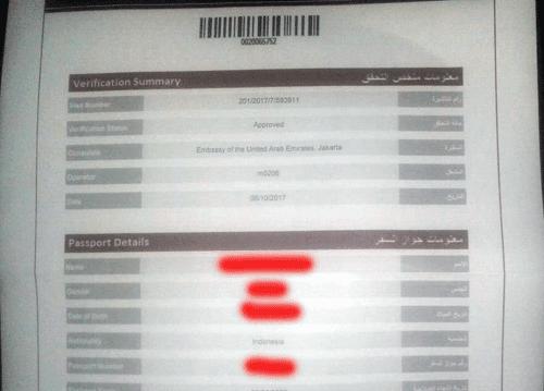hasil basmah dan interview dalam pengurusan visa emirates