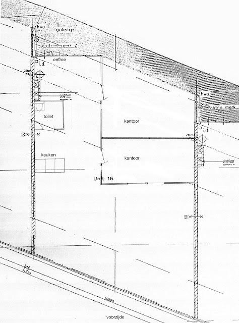 Plattegrond Neerloopweg 23 Breda, kantoorruimte te huur