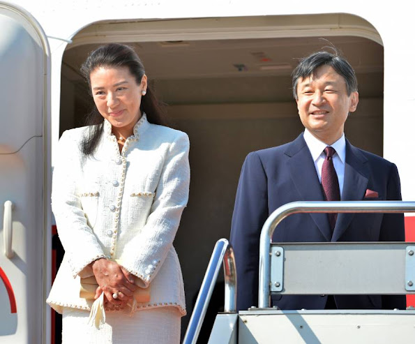 Crown Prince Naruhito and Crown Princess Masako left for the Netherlands on Sunday to attend the coronation of the new Dutch king