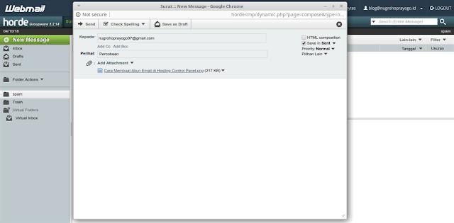Cara Membuat Akun Email di Hosting Control Panel