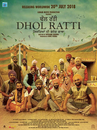 Poster Of Punjabi Movie Dhol Ratti 2018 Full HD Movie Free Download 720P Watch Online