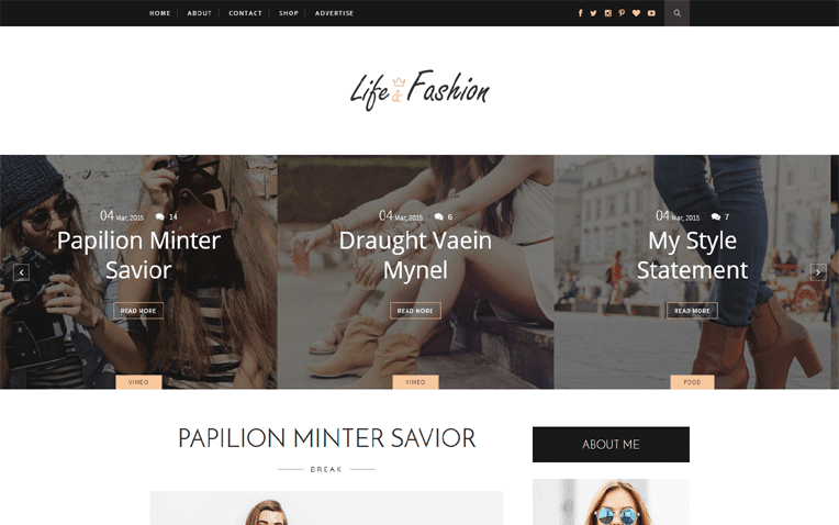 Life Fashion Free Blogger Template
