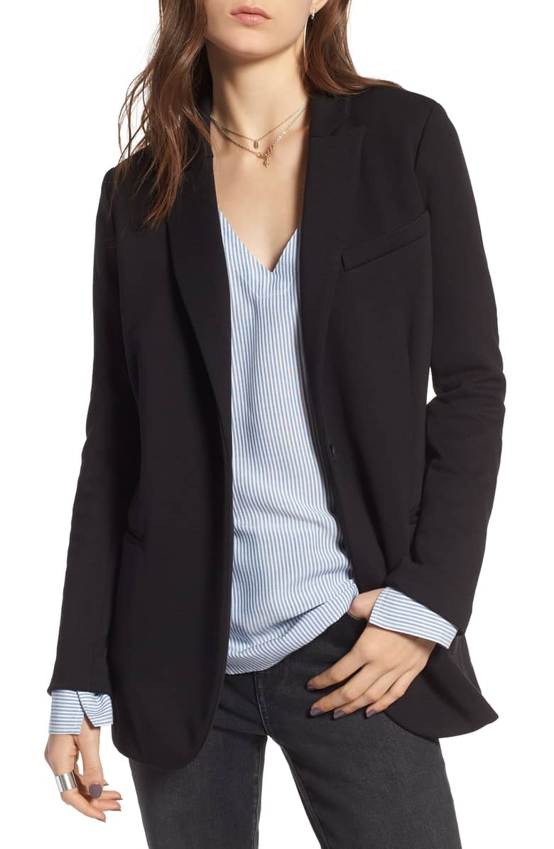 Treasure and Bond Long Knit Blazer