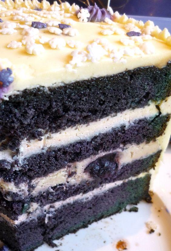 Blueberry Velvet Cake   FoodGaZm..
