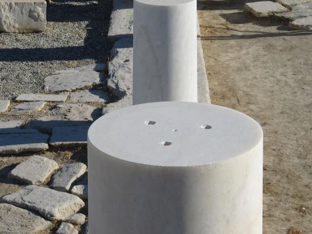 New Naxian marble column bases on Despoiko