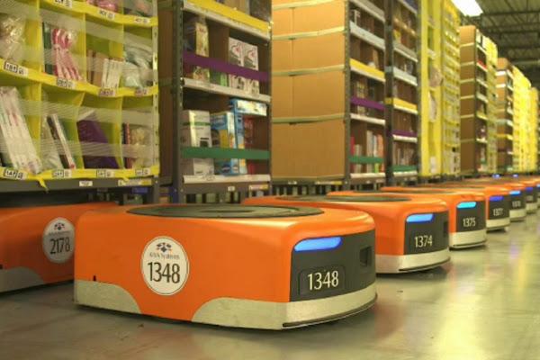 Kiva 機器人排排站