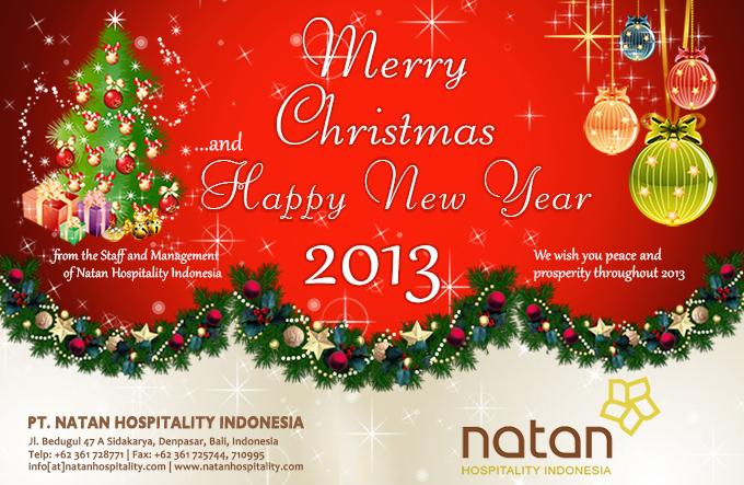 (Kartu Ucapan) Selamat Natal dan Tahun Baru