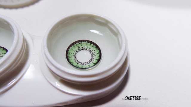 Sponsored Review Circle Lens Ellen Panda PM 13 Green korea ulzzang kfashion kbeauty