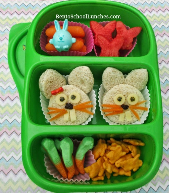 Bunny hop Easter bento school lunch