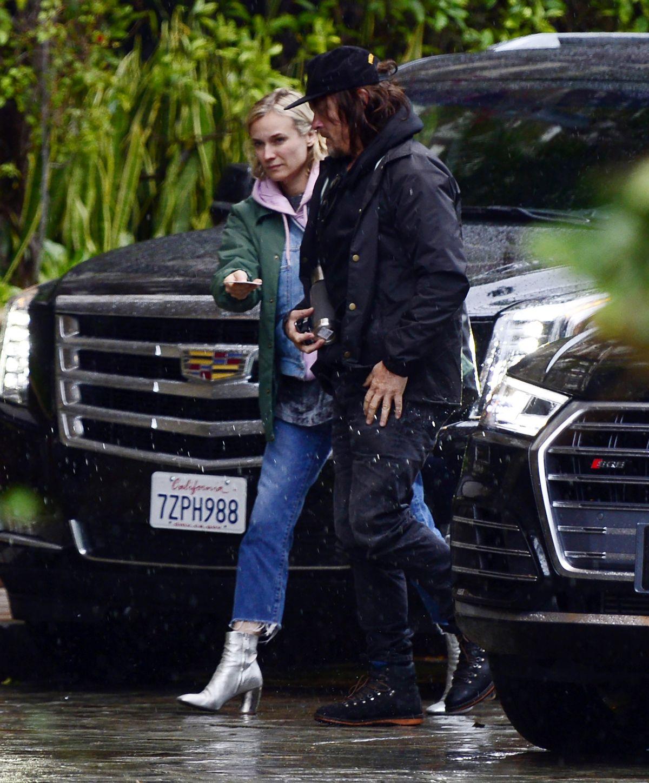 Diane Kruger & Norman Reedus at Four Season Hotel In Los Angeles