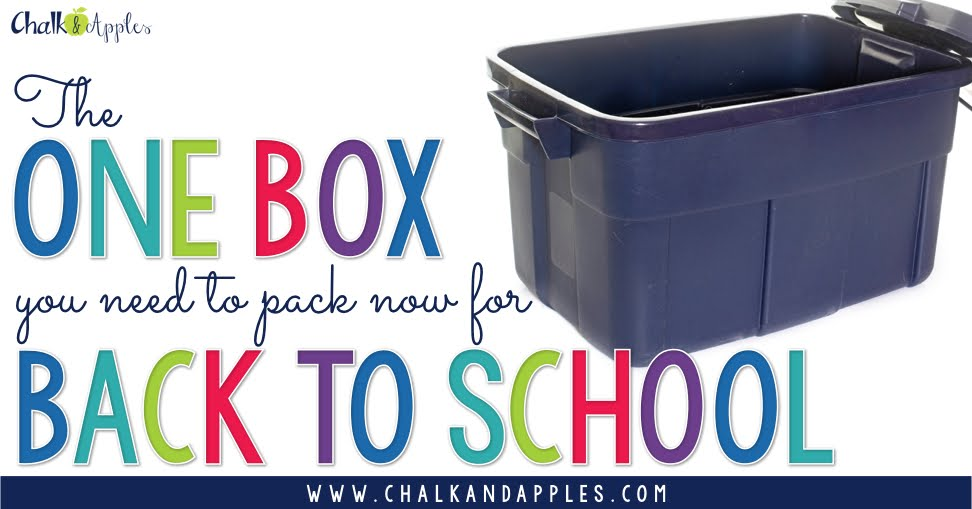 Packing this ONE box at the end of the school year will make back to school easier than ever!