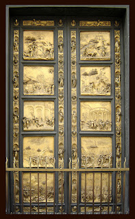 The baptistry doors known as 'The Gates of Paradise'