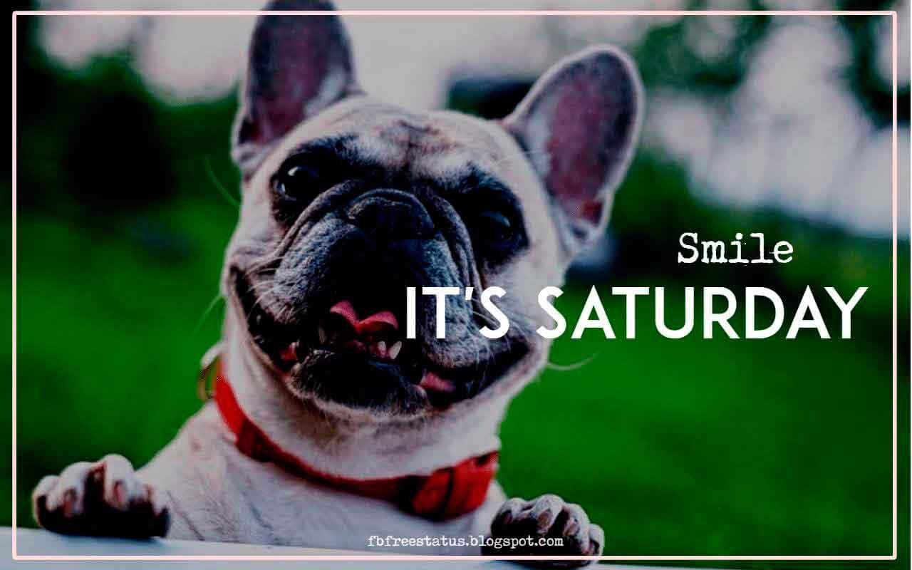 It's Saturday.