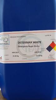 Determax White productos de limpieza para Lavanderia