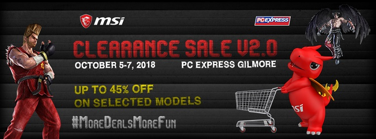 MSI Clearance Sale V2.0 Offers up to 45% Discounts on Select Gaming Laptops