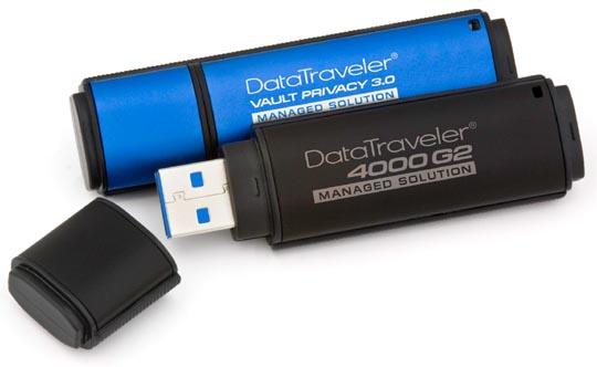 Kingston Hardware-Encrypted USB Flash Drives