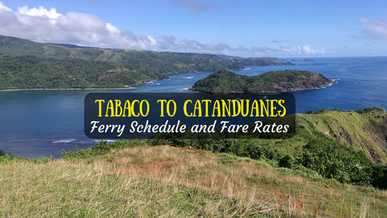 Tabaco to Catanduanes ferry schedule