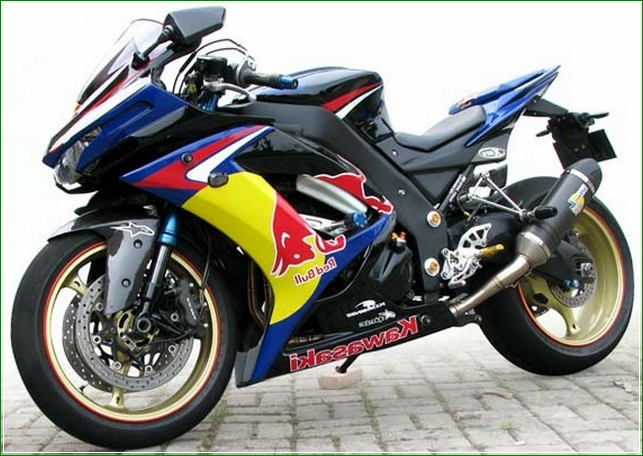 modifikasi ninja 4 tak warna hitam - Contoh Gambar Dan Foto Konsep Desain Modifikasi Kawasaki Ninja 4 Tak 250cc Sporti Ala Moge Keren Banget