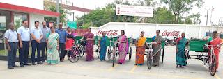 HCCB donates 4 Tri-cycles to Nemam Panchayat