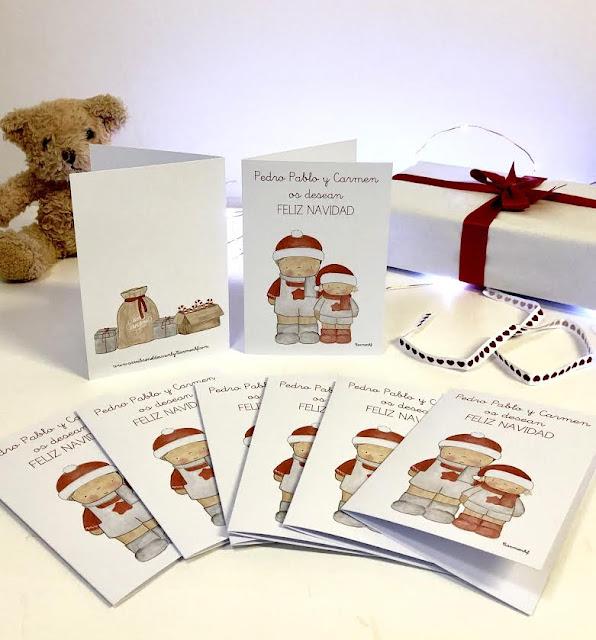 Postales-navidad-personalizadas-Pedro Pablo y Carmen