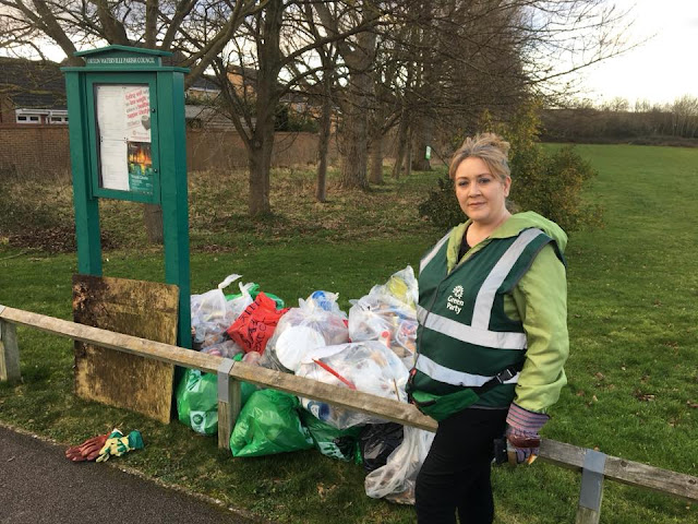 Litter pick in Orton Northgate