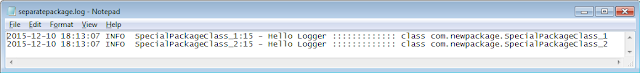 Log4j + Separate Logger for specific classes or package