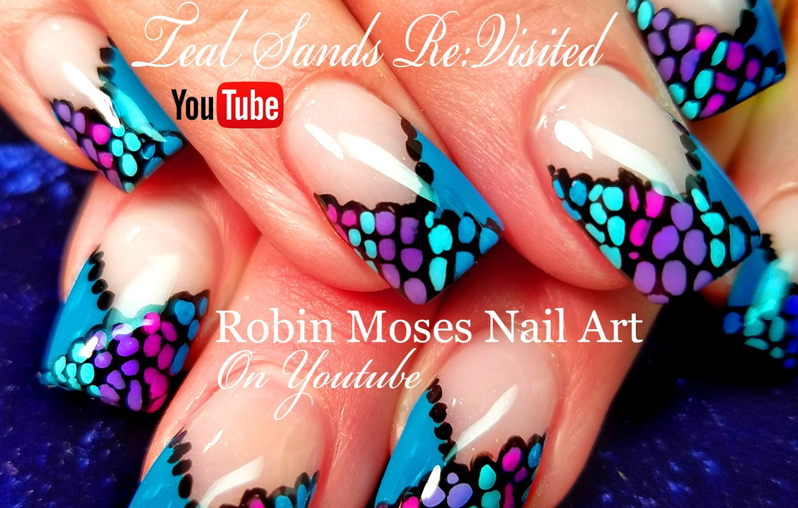 Robin moses nail art easy diy dot french mani teal sands easy diy dot french mani teal sands dotticure nail art design tutorial prinsesfo Image collections