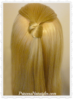 Half up hair knot hairstyle. Video instructions.