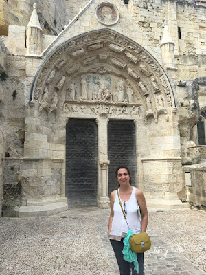 Ruta Oeste Francia iglesia troglodita portada