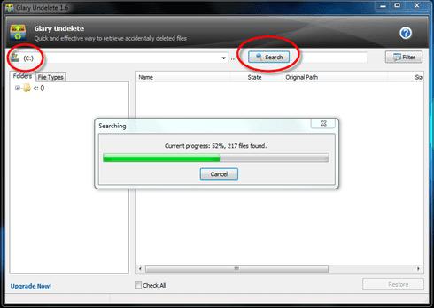 recuperar arquivos pastas excluídos