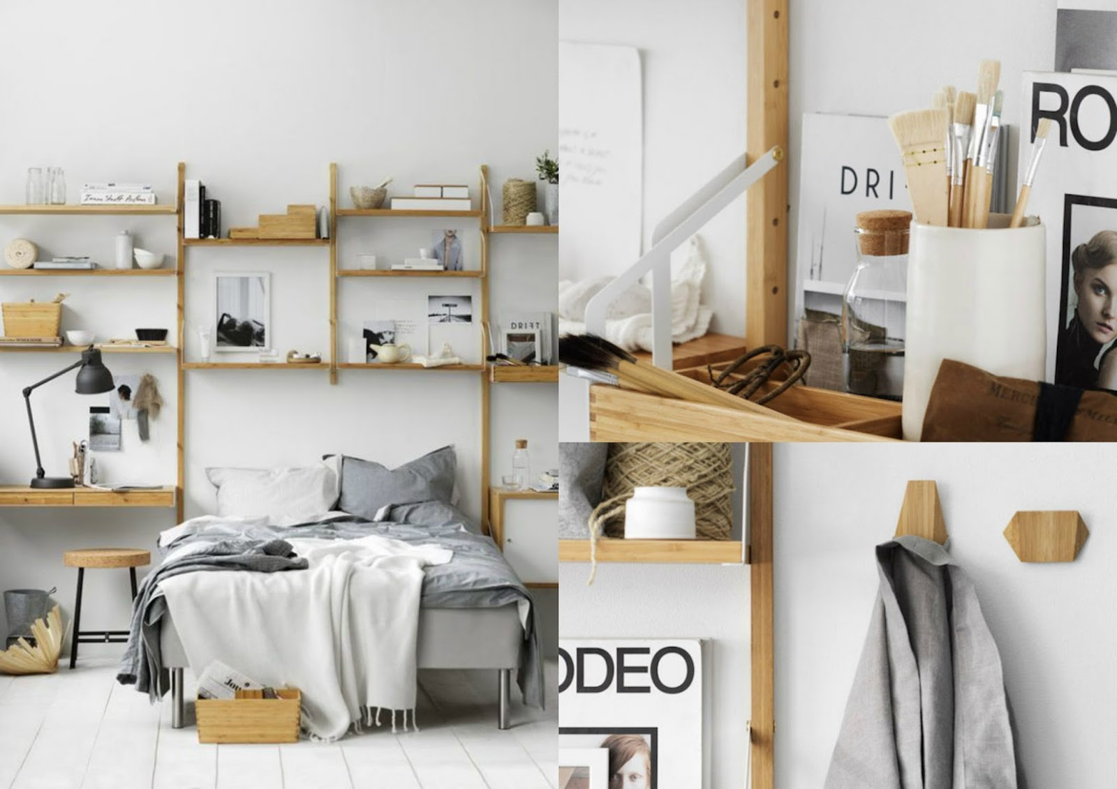 naturalnie wyglądająca sypialnia