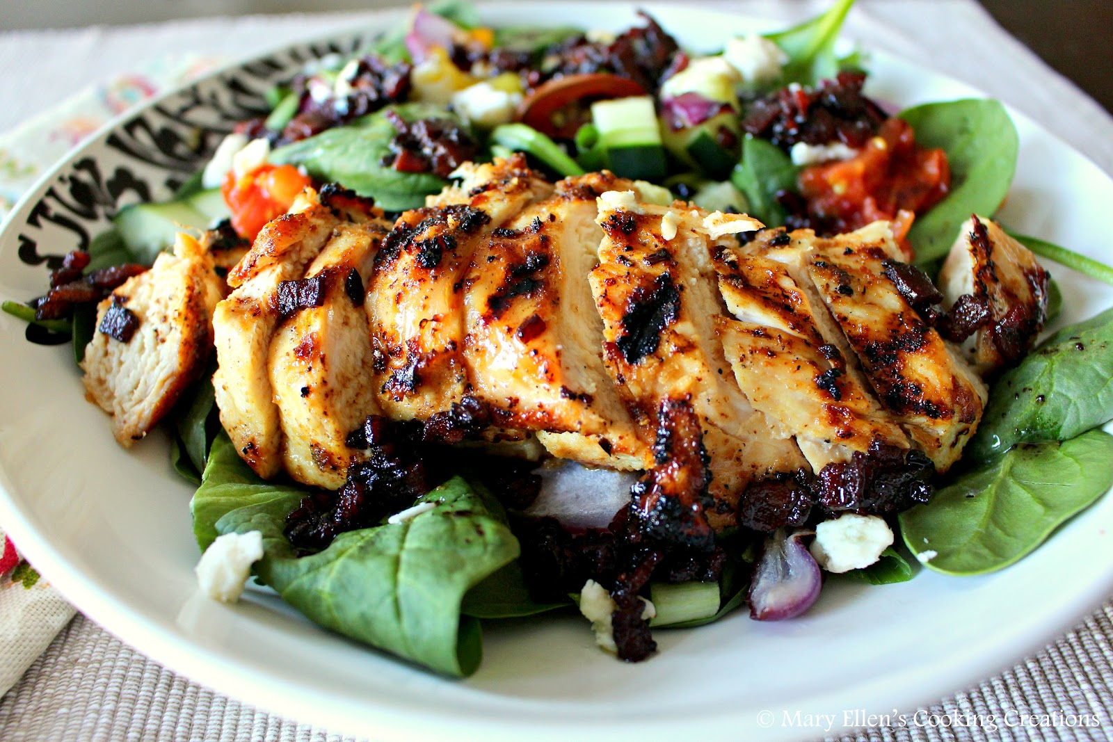 Mary Ellen's Cooking Creations: Grilled Chicken BLT Salad ...