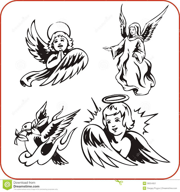 Angels  Vector Set