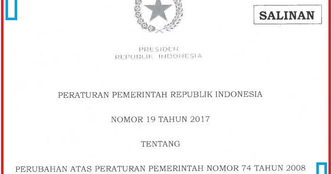 Inilah Isi Peraturan Pemerintah No 19 Tahun 2017 Tentang Guru