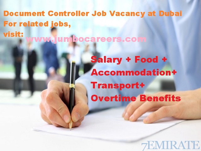 Document controller Jobs in Dubai , jobs in dubai for indians