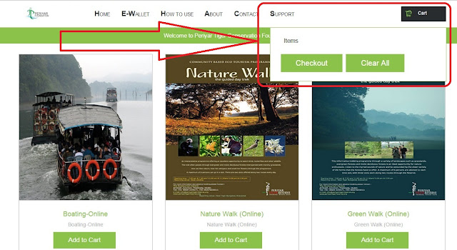 how to make online booking for thekkady wild life boating