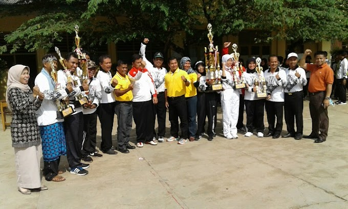 Kecamatan Tapos Juara Umum Lomba Senam PGRI 2016