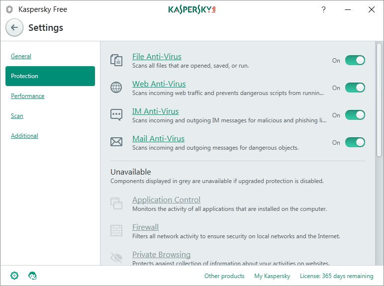 Funciones y apariencia de Kaspersky Free - El Blog de HiiARA