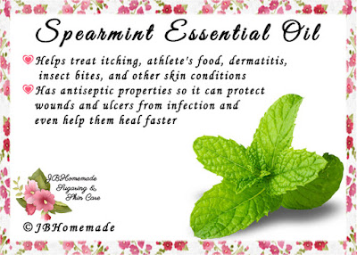 Spearmint ♦Helps treat itching, athlete's food, dermatitis, insect bites, and other skin conditions ♦Has antiseptic properties so it can protect wounds and ulcers from infection and even help them heal faster