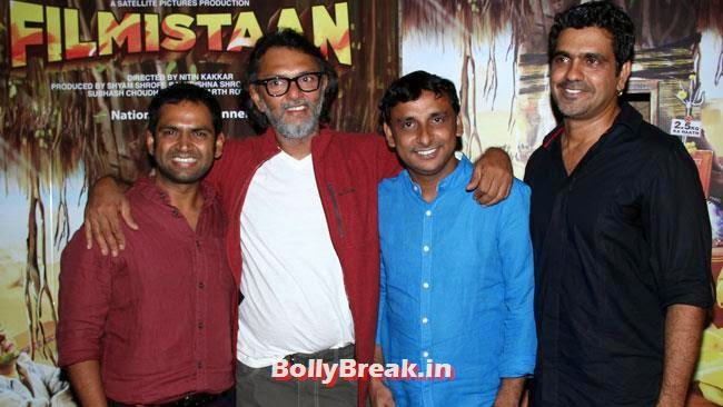 Sharib Hashmi, Rakeysh Omprakash Mehra and Inaamulhaq, Aditi Rao, Shilpa, Tisca at Filmistaan Movie Special Screening at Lightbox
