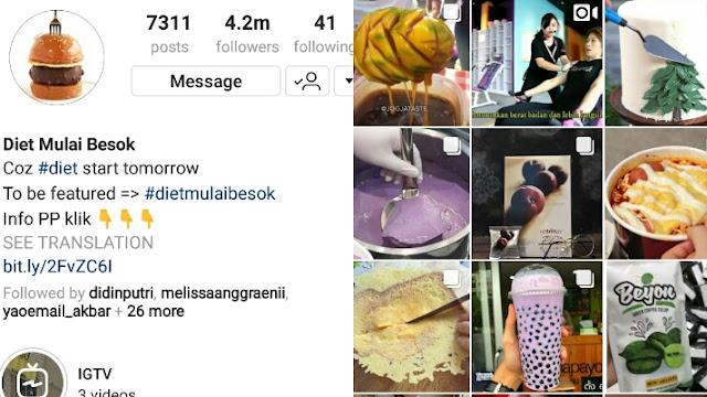 Akun Instagram Tentang Makanan