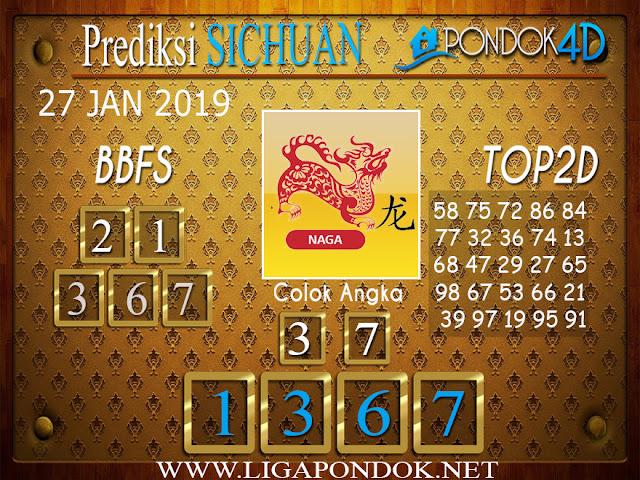 Prediksi Togel SICHUAN PONDOK4D 27 JANUARI 2019