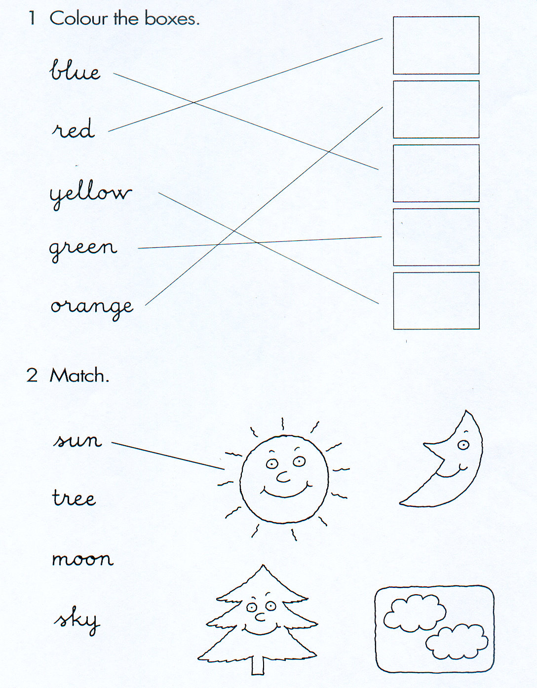 Fichas De Ingles Para Ninos Colours Worksheets